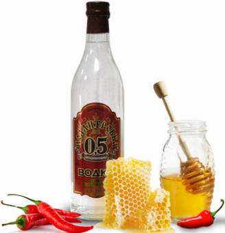 Водка с медом от кашля