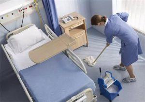 Уборка, больничная палата