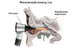 Принцип физического осмотра уха