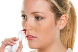 Отит в следствии травмы носа