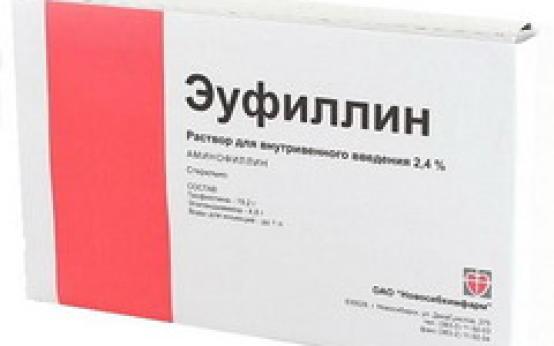 Особенности применения препарата Эуфиллин в ампулах и таблетках