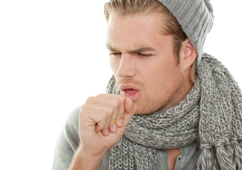 У парня кашель