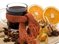 Горячее вино,апельсины,корица