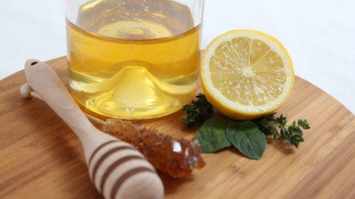 Мёд с лимоном и глицерином от кашля