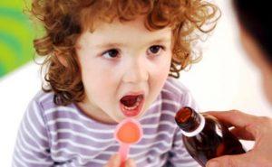 Применение сиропа от кашля детям