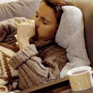 Простуда, кашель, чай, больной