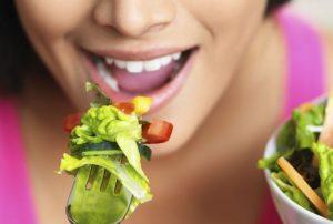 Овощи, женщина